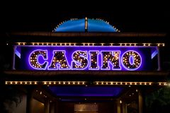 Casino illuminated Royalty Free Stock Images