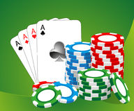 Casino illustration Royalty Free Stock Image