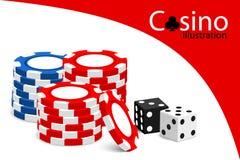Casino illustration Royalty Free Stock Photos