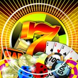 Casino illustration Royalty Free Stock Photography