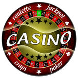 Casino illustration. Round red isolated Stock Photography
