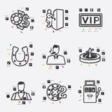 Casino infographic Royalty Free Stock Images