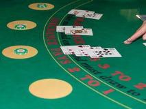 Casino interno: Atrás de Jack Gambling Table preto imagens de stock