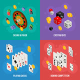 Casino isometric design concept of gambling templates Stock Photo