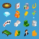 Casino Isometric Icons Set stock illustration