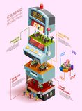Casino Isometric Infographics Layout Royalty Free Stock Photos