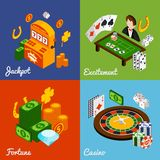 Casino Isometric Set Royalty Free Stock Images