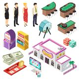 Casino Isometric Set vector illustration