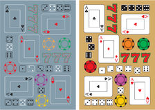 Casino items royalty free illustration