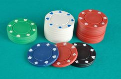 Casino items Royalty Free Stock Images