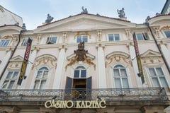Casino Kartac - Praga foto de archivo libre de regalías
