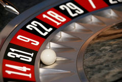 Casino, la roue de roulette, trente une Image stock