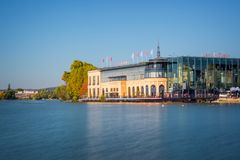 Casino at the lake of Enghien les Bains near Paris France. Casino at the lake of Enghien les Bains near Paris, France Royalty Free Stock Image