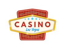 Casino Las Vegas Gelukkige pot, succes, de financiële groei, geldwinst stock illustratie