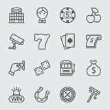 Casino line icon. Business casino line icon set Stock Image