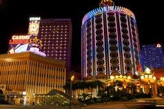 Casino Lisboa en la noche, Macao, China fotos de archivo