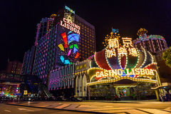 Casino Lisboa en macau Foto de archivo