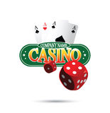 Casino Logo Design Concept Imagen de archivo