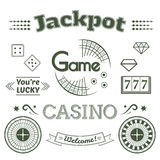 Casino logo and label set game vector illustration Stock Photos
