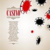 Casino logo poster background or flyer. stock illustration