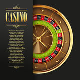 Casino logo poster background or flyer. Royalty Free Stock Photos