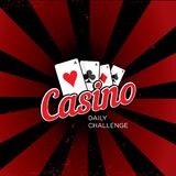 Casino  logo template Royalty Free Stock Photo