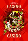 Casino logo on a white background Royalty Free Stock Images