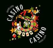 Casino logo on a white background Royalty Free Stock Photos