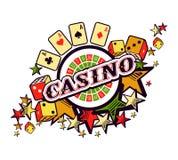Casino logo on a white background Stock Photos