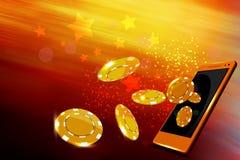 Casino móvel Imagem de Stock Royalty Free