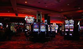 Casino machines in the entertainment area royalty free stock image