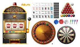 Casino machines and games. Illustration Royalty Free Stock Photos