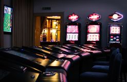 Casino machines stock photography