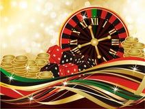 Casino merry christmas background, vector vector illustration