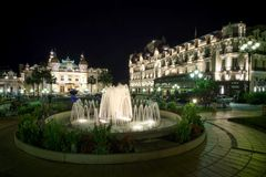 Casino in Monaco. Monte Carlo Casino in Monaco, night scene Royalty Free Stock Photography