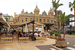 Casino Monte-Carlo and Cafe de Paris in Monte Carl Stock Photo