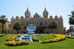 Casino Monte Carlo, Monaco. Front of the casino in Monte Carlo, Monaco stock photos
