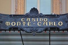 Casino Monte Carlo Sign Royalty Free Stock Photos