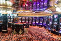 The casino on the MSC Fantasia Royalty Free Stock Image