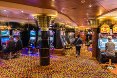 The casino of the MSC Musica cruise ship Royalty Free Stock Photography