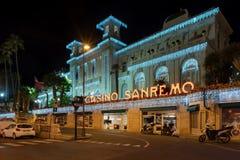 Casino municipal de Sanremo imagen de archivo