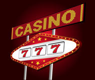 Casino neon royalty free illustration