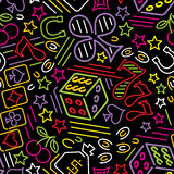 Casino neon background Stock Image
