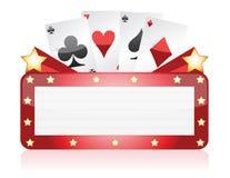 Casino neon light sign illustration design. Over white Stock Photography