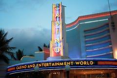 Casino neon lights stock image