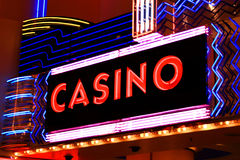 Casino neon lights Stock Image