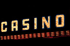 Casino neon sign stock images