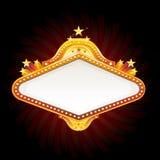 Casino neon sign. Vector illustration Royalty Free Stock Image