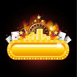Casino neon sign. Las vegas background casino sign Stock Photography