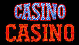 Casino Neon Signs Royalty Free Stock Image